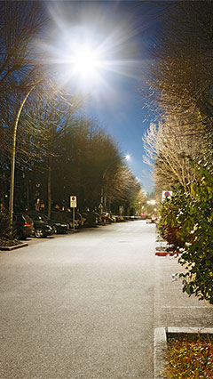 Philips Lighting illumine vivement la route vers le parking de la clinique Asklepios St. Georg