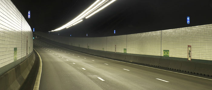Tunnel mis en lumière par Philips Lighting