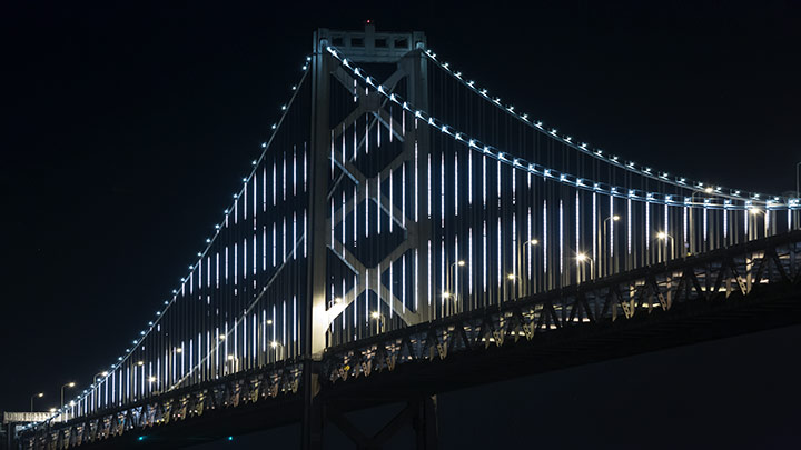 The Bay Lights - San Francisco Bay Bridge