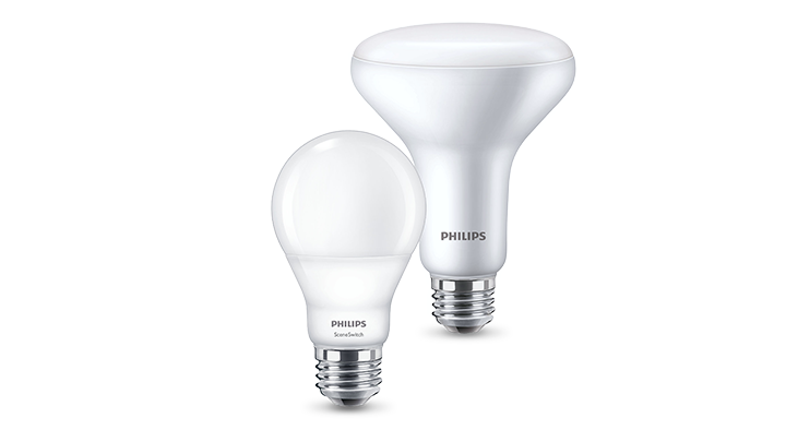 Gamme complète d'ampoules LED SceneSwitch Philips