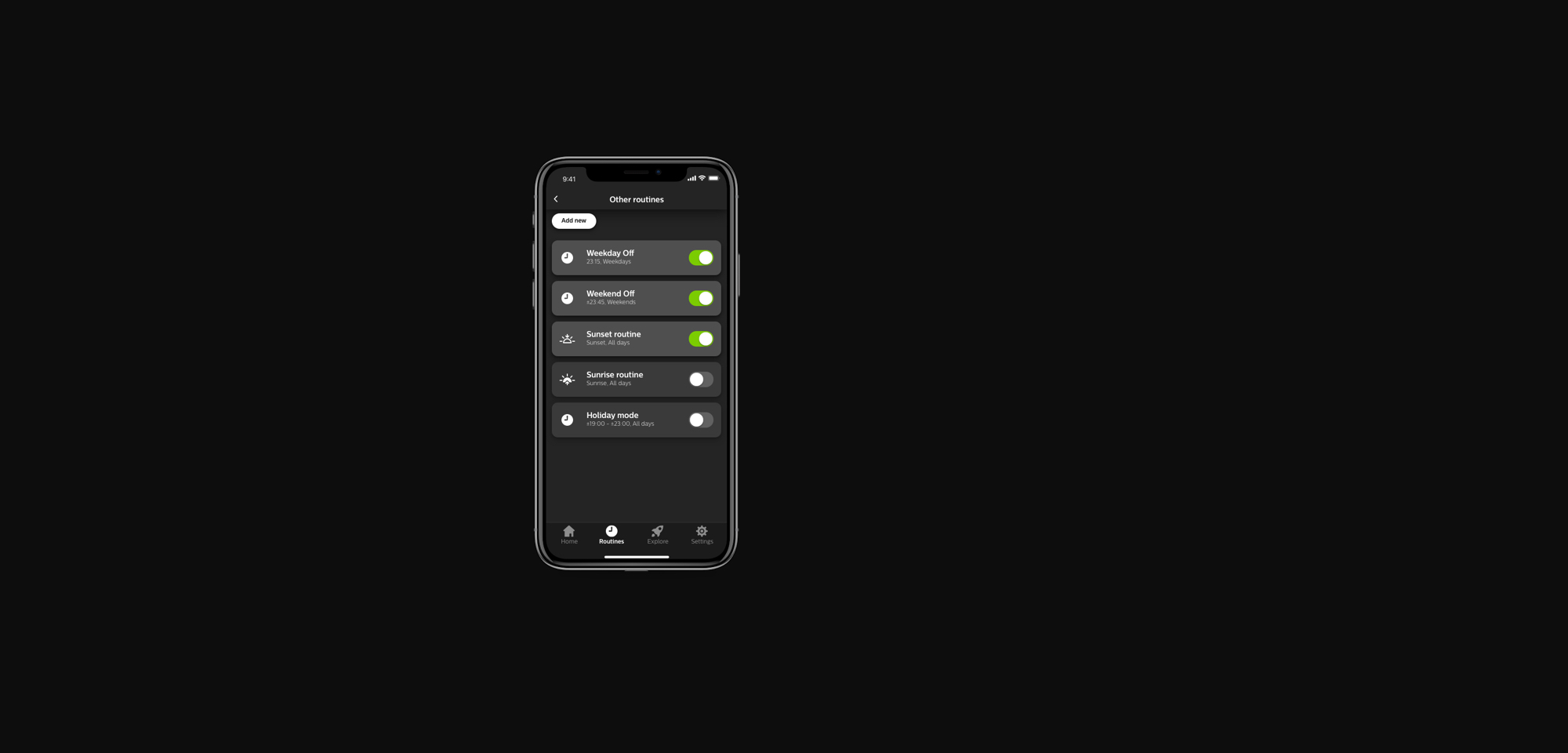 Hue lighting routines